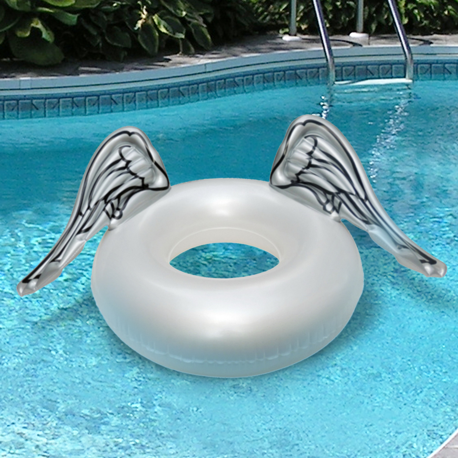 Guaranteed4Less Giant Inflatable Swim Rings Angel Wings Lilo Lounger Swimming Pool Float Beach