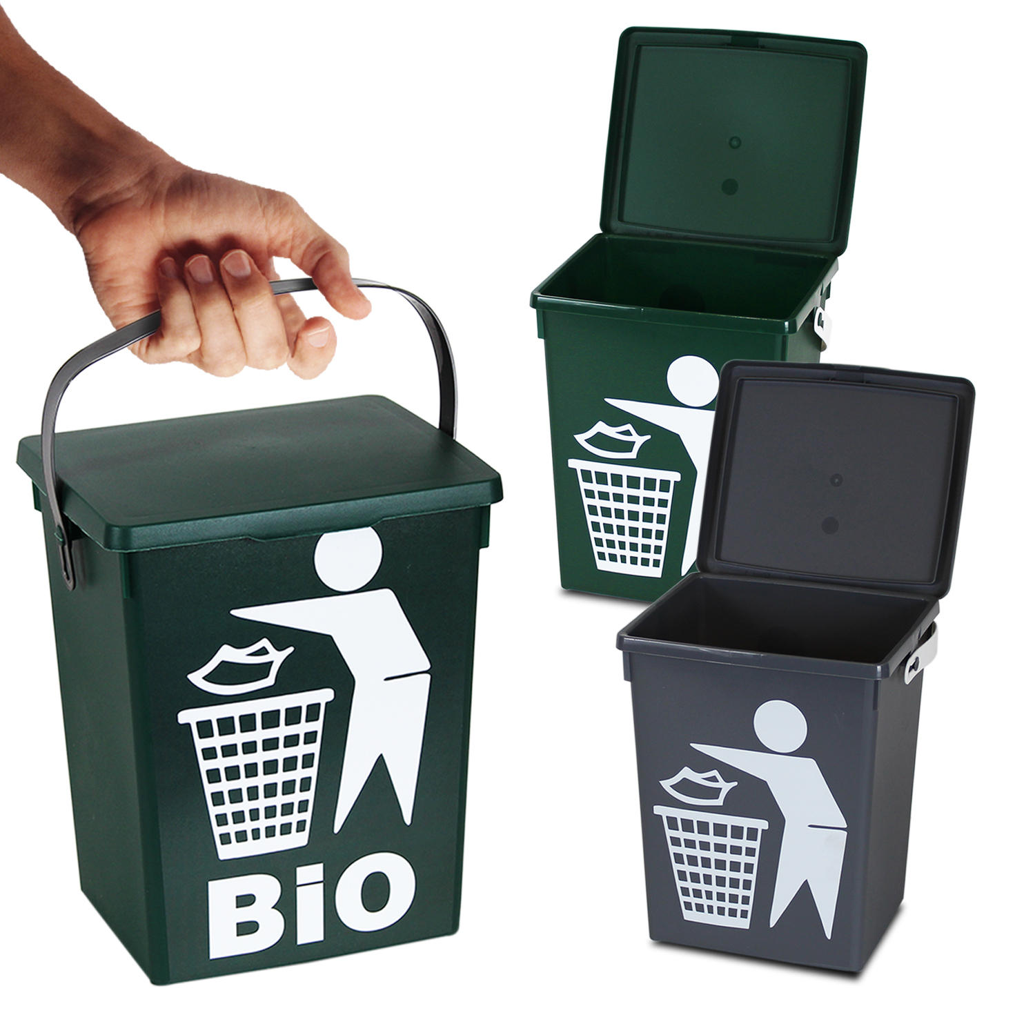 Details about 5 Litre Small Table Top Food Recycling Bin Kitchen Recycle  Waste Rubbish Peel
