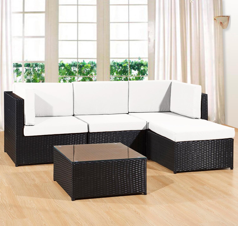 Fantastic Details About Garden Furniture Rattan Sofa Set Patio Corner Lounger Unit Table Indoor Outdoor Download Free Architecture Designs Embacsunscenecom