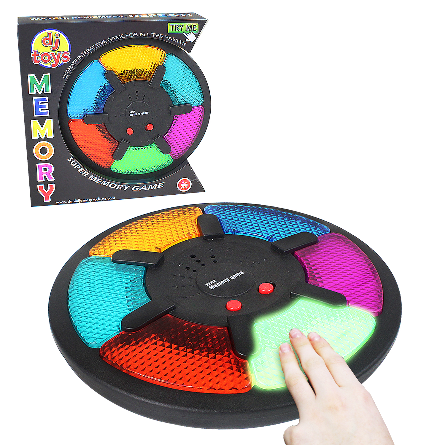 Electronic Interactive Memory Game Hand Held LED Light Sound Kids Fun Toy Family