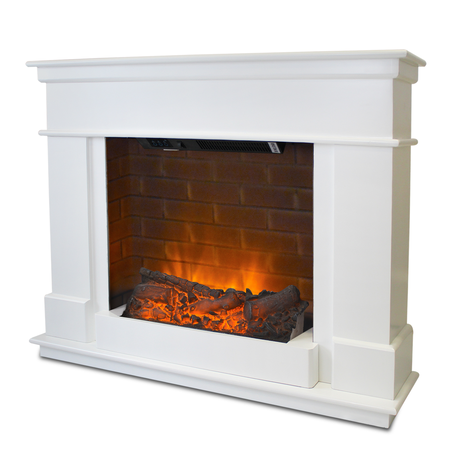 Contemporary Free Standing Electric Fires: Free Standing Electric Fire Wall Mounted Modern Surround
