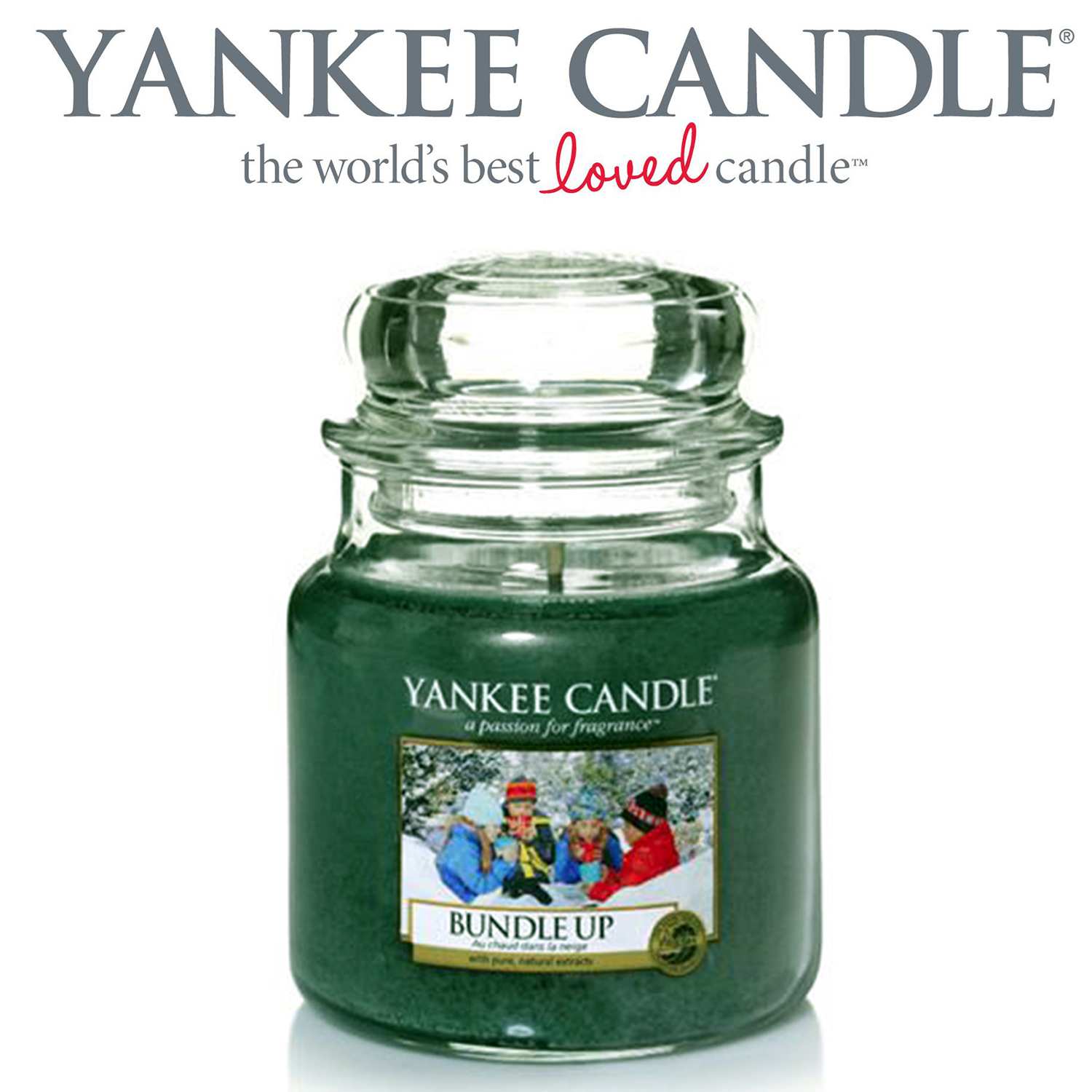 Yankee Candle Bundle Up Winter Scented 104g Glass Jar 40 Hour Burn Time Scents